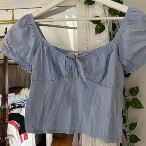 Darling blue shirt!